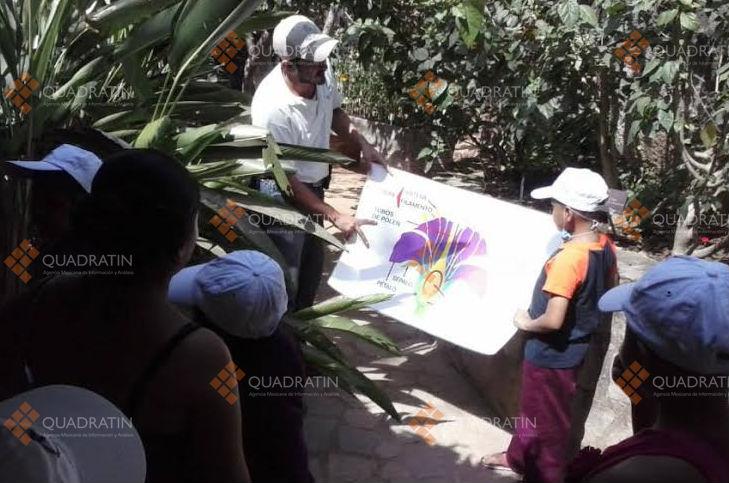 Reciben taller ni os con c ncer en el jard n bot nico de for Talleres jardin botanico