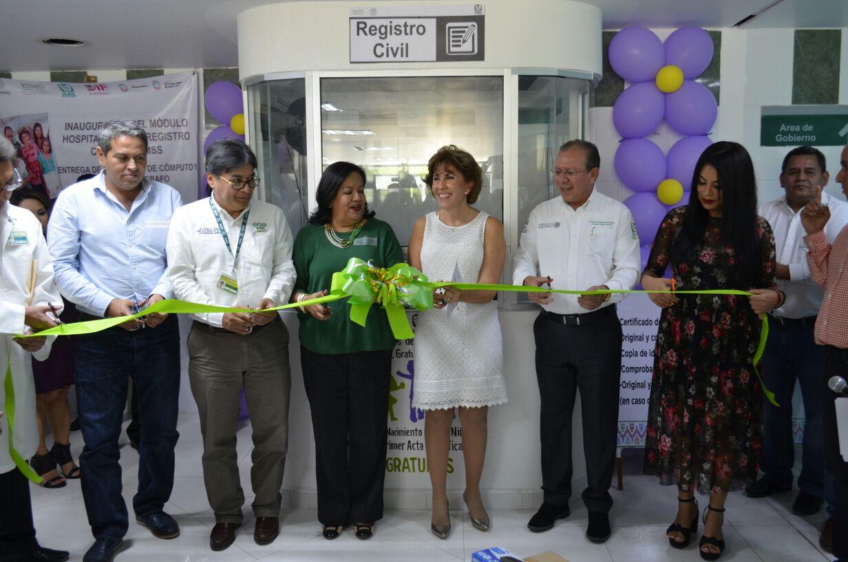 Inaugura Mercedes Calvo Módulo De Registro Civil En Imss
