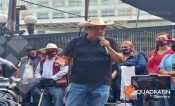 Caravana de Félix Salgado llega al INE en CDMX